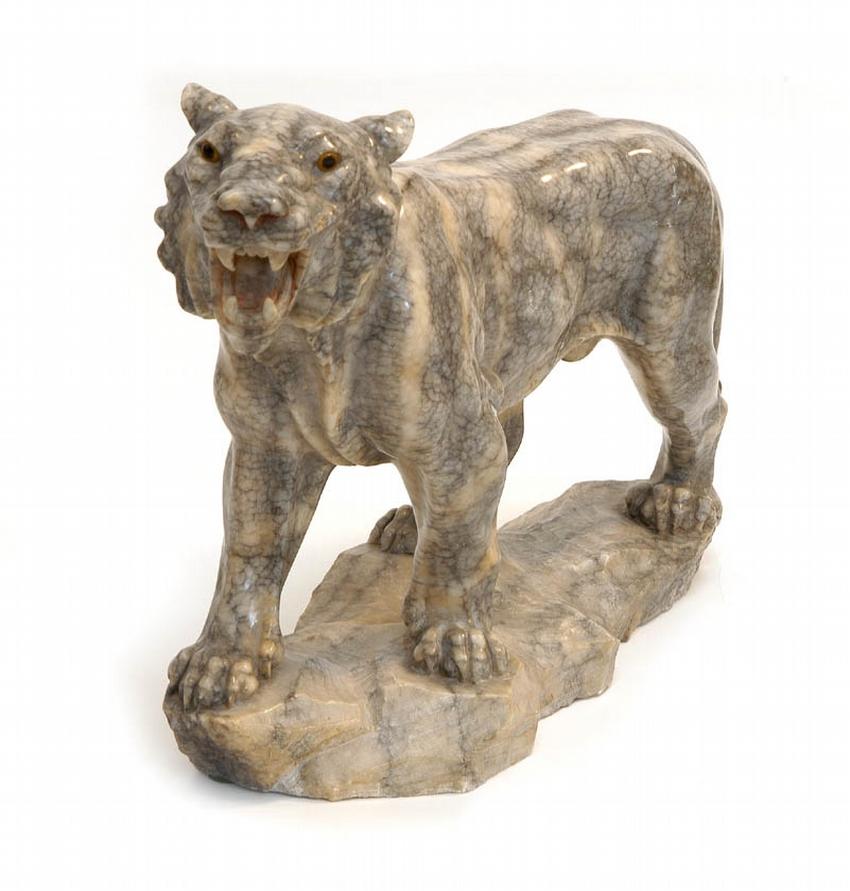 Alabaster Model of a Lioness