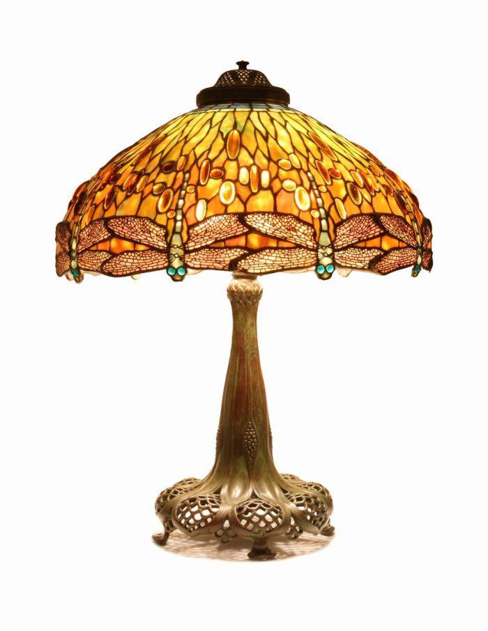 'A Jeweled Dragonfly'  Tiffany Lamp