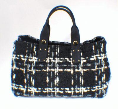 Prada Woven Wool Tote Bag