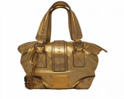 Dolce and Gabbana Gold Shoulder Bag