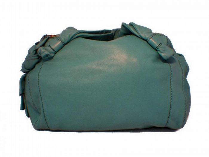 Valentino Teal Leather Shoulder Bag