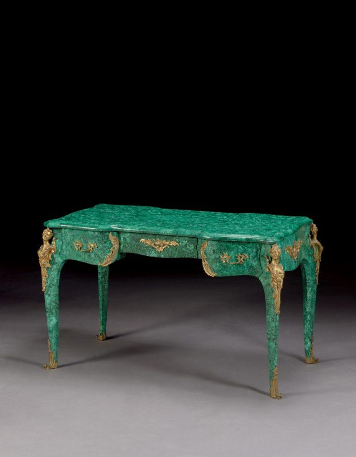 Ormolu-Mounted Malachite Desk