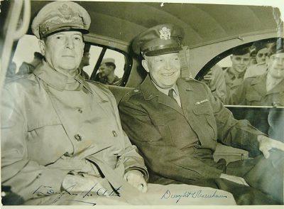MacArthur and Eisenhower Signed Photo