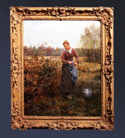 Woman Gathering Berries