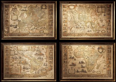 Blaeu's monumental wall maps of the continents