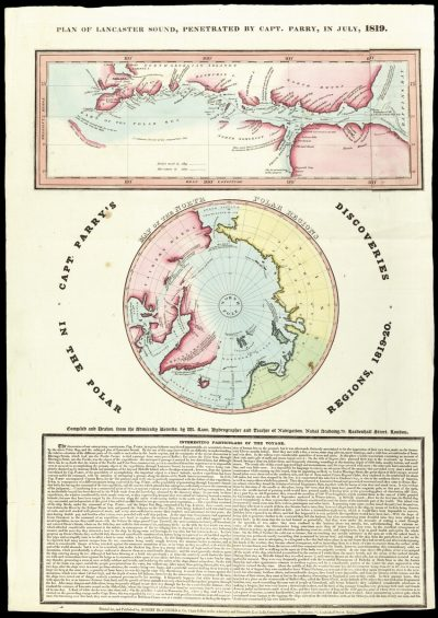 Rare broadsheet deatiling one of the most important Arctic expeditions
