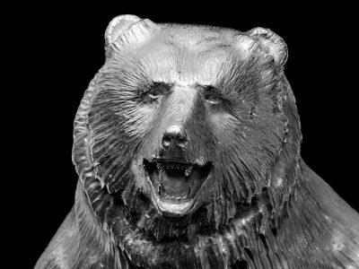Pair of Sterling Bear Candelabra
