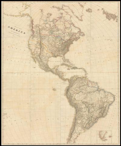 Rare map of the Americas