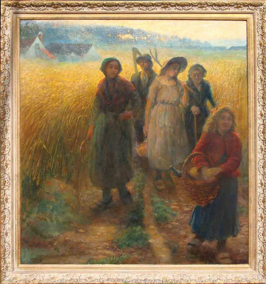 Gleaners at Sunset: Jules Breton