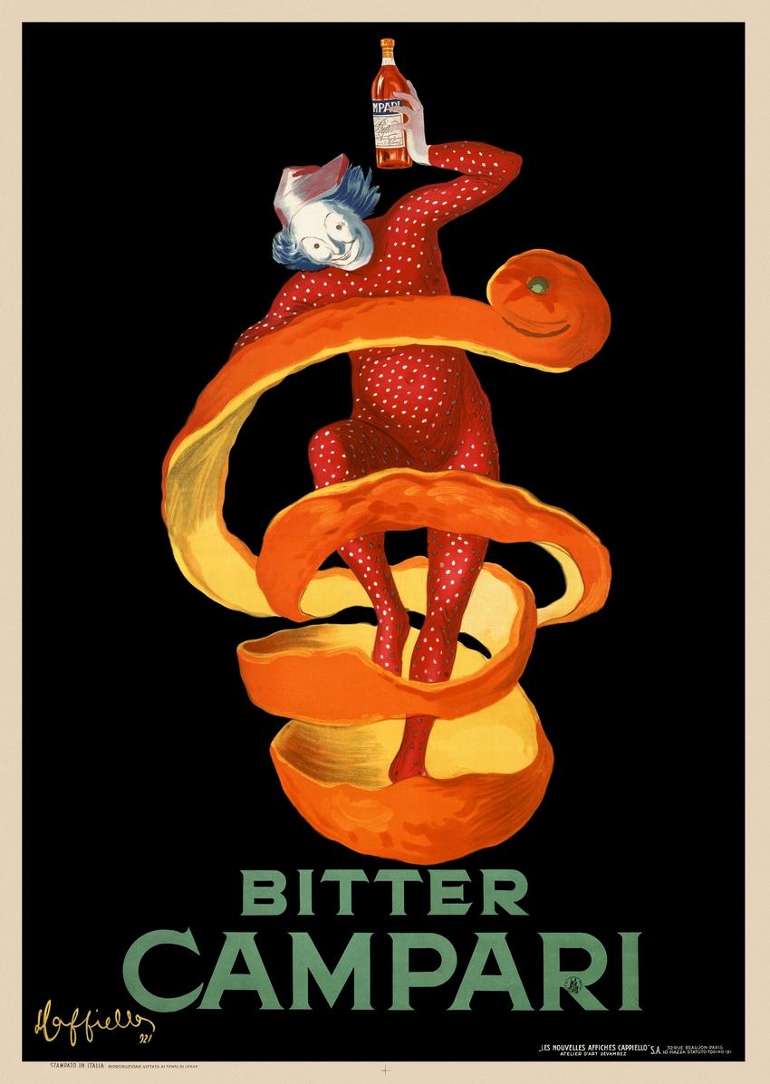 Bitter Campari Original Vintage Italian Poster