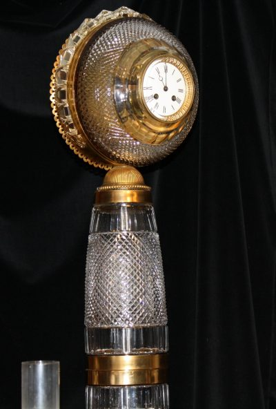 19th C French Baccarat Clock