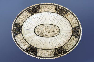 Silver-Mounted Ivory Charger
