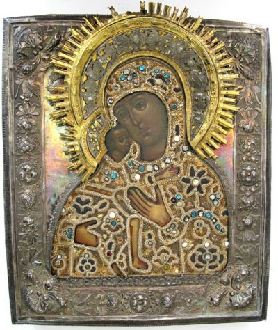 18C Russian Icon Mother of God