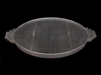 Silver Tray with Stingray