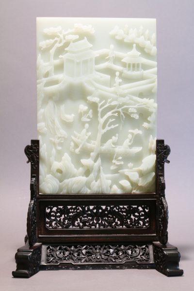Pair of White Jade Panels