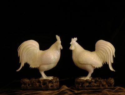 Jadeite Roosters