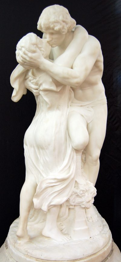 """Marble Sculpture of """"Lovers"""""""