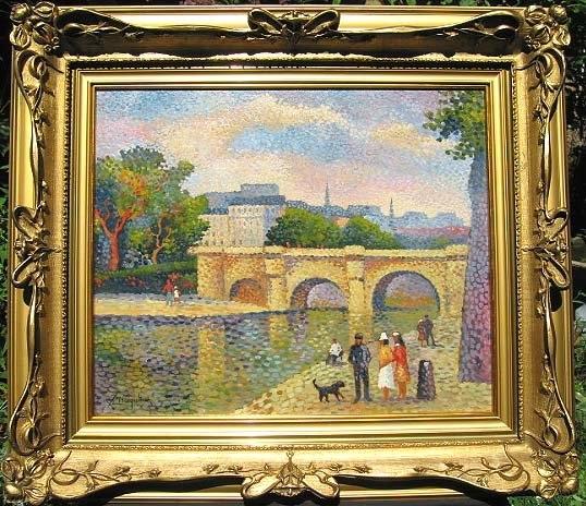 Impressionist Banks of the Seine : Lucien Neuquelman
