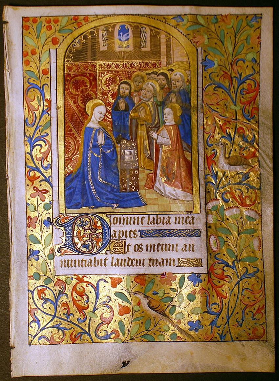 Illuminated Manuscript with Miniature of the Pentecost
