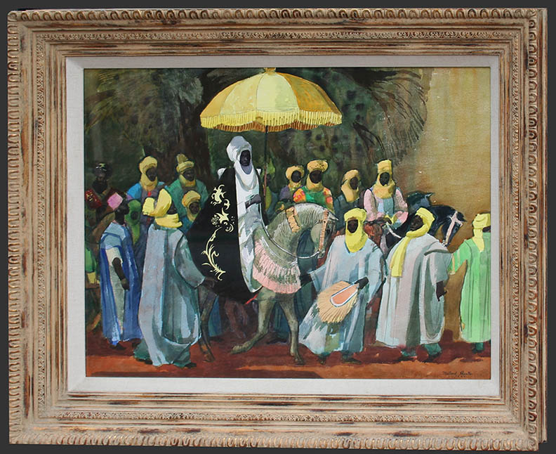 Sheets – African Parade 30×40 8041 Framed