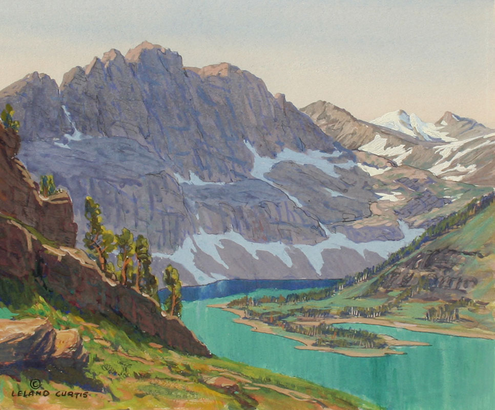 Curtis – Hidden Lake – Glacier National Park 6.25×7.25 8076